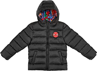 The Arctic Squad Spiderman with Marvel Lining Toddler Hooded Puffer Jacket, Black