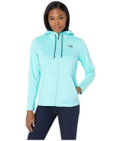 The North Face Tech Mezzaluna Hoodie (Mint Blue Heather/Mint Blue) Women