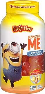 L'il Critters Despicable Me Minion Made Complete Multivitamin Gummies, 190ct