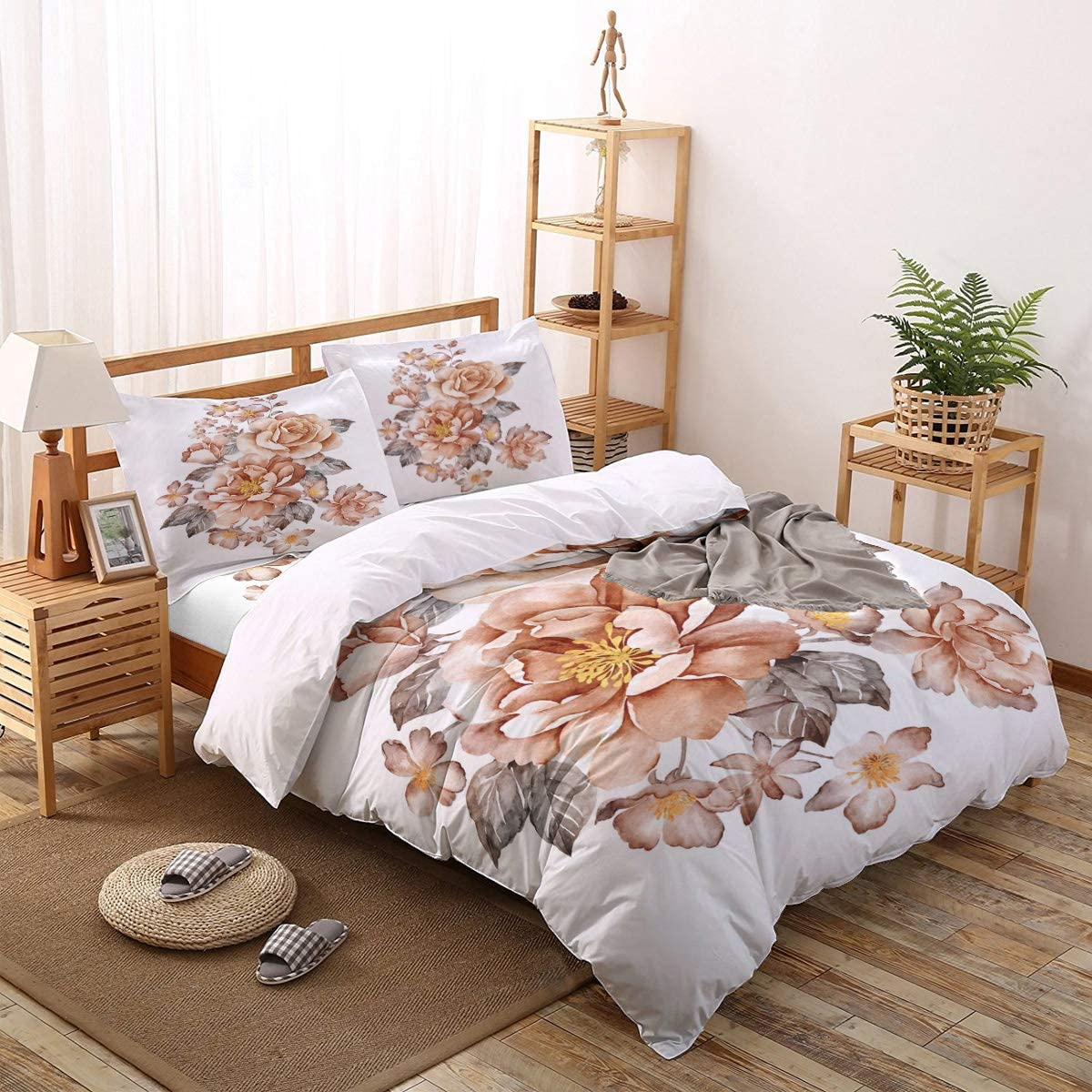 Super special Cheap price Greeeen 4 Pieces Duvet Cover Flat + Bedding Set- 1