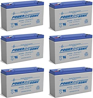 PS-6100 6V 12AH F1 Rechargeable Battery - 6 Pack