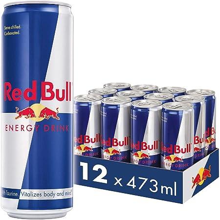 Red Bull Energy Drink, 473 ml Pack of 12