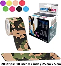 Sports Kinesiology Tape Roll - Athletic Injury Recovery First Aid Therapy Support - Elastic Breathable Cotton Waterproof Strong Adhesive - Tendon Joint Ligament Muscle Pain Relief – Free Taping Guide