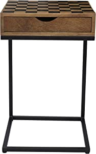 "Jofran Global Archive Checkerboard C Table, 16.5""W X 16.5""D X 26""H, Natural Mango Finish, (Set of 1)"