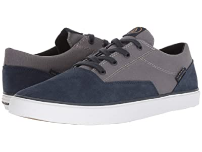 Volcom Draw Lo Suede Shoes (Navy Heather) Men