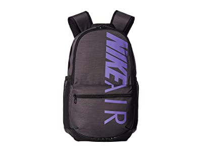 Nike Brasilia Medium Backpack (Thunder Grey/Black/Space Purple) Backpack Bags