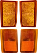 Best Aftermarket Replacement Driver and Passenger 4 Pc Set Upper & Lower Signal Side Marker Reflector Lights Compatible with 1988-1993 C1500 C2500 K2500 K3500 Pickup Truck Review