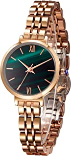 Japanese Quartz Fashion Wrist Watch for Women 18k Yellow Gold Ion-Plated Stainless Steel Case