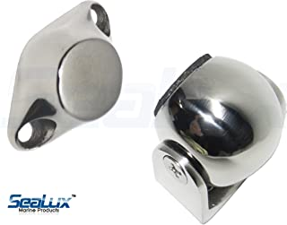 SeaLux Marine 316 Stainless Steel Pivoting Magnetic Door and Window Holder Set