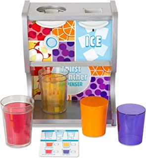 Melissa & Doug Wooden Thirst Quencher Drink Dispenser (10 Pieces, Great Gift for Girls and Boys - Best for 3, 4, 5, 6, and 7 Year Olds)