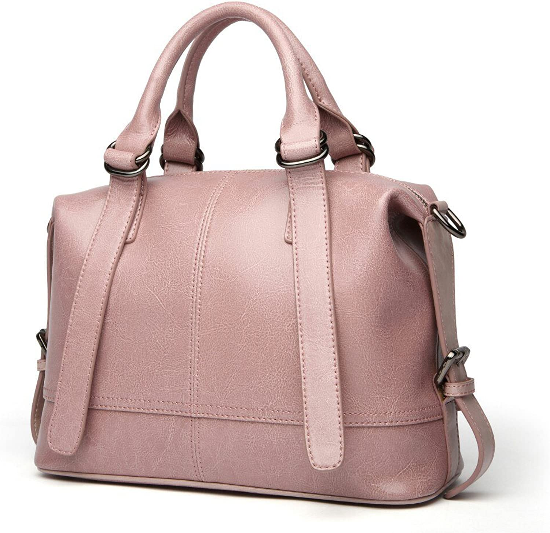 HAUTTON Genuine Leather Women's Handbag Top Cowhide Leather