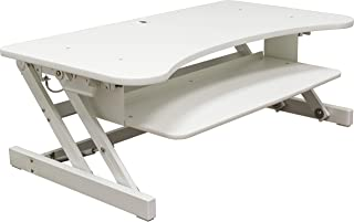 """Lorell 99902 Active Office Monitor Riser, 16"""" x 37.5"""" x 20.5"""", White"""