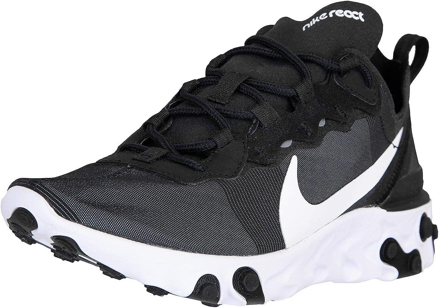 Nike React Element 55 Baskets pour femme - Noir - Noir/blanc, 39 ...