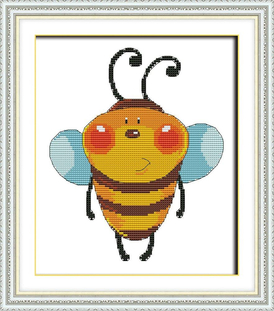 Mandala Bee #K310 Embroidery Kit Cross Designs How to Cross Stitch Cross Pattern Needlepoint Funny Animals Cross Stitch Kits