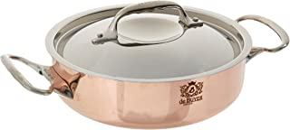 PRIMA MATERA Round Copper Stainless Steel Saute-Pan 8-Inch with lid
