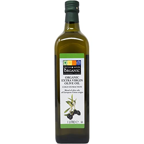 Fresh & Wild Organic Extra Virgin Olive Oil, 1 Litres