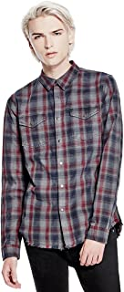 Men's Rosewood Embroidered Button Down Shirt