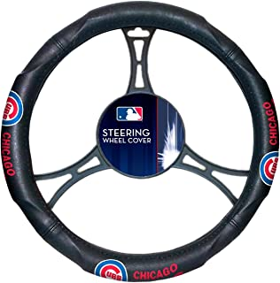The Northwest Company MLB Chicago Cubs Licensed Steering Wheel Cover, One Size, Multicolor