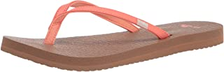 Sanuk Women's Yoga Spree 4 Sandal, Coral, 6 M US