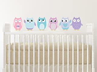 Sunny Decals Owl Fabric Wall Decals (Set of 6), Small/6
