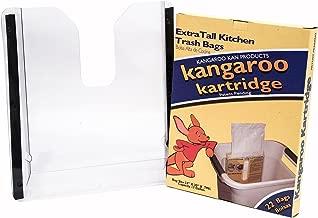 مجموعة Kangaroo Kaddy متعددة الأغراض من قبل وضع بطانة للجراج - مجموعة أول كل في واحد من Kangaroo Kan Starter ، حامل حقيبة القمامة داخل المرأب الخاص بك
