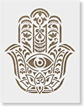 Hamsa Palm Mandala Stencil Template for Walls and Crafts - Reusable Stencils for Painting in Small & Large Sizes
