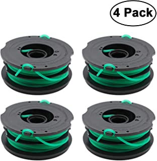 RONGJU 4 Pack Weed Eater Spool Replacement Compatible with Black and Decker GH1000 GH1100 GH2000 String Trimmer Spool DF-080 & DF-080-BKP Dual Line Replacement Spool 30ft 0.080-inch
