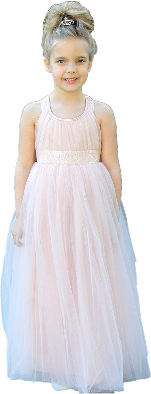 ekidsbridal Sweetheart Neckline Cross Straps A-Line Formal Flower Girl Dresses 173