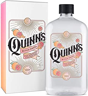 Quinn's Alcohol Free Pink Grapefruit and Orange Rind Witch Hazel with Aloe Vera 16 ounce.
