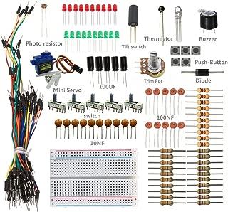 SunFounder Sidekick Basic Starter Kit w/Breadboard, Jumper wires, Color Led, Resistors, Buzzer For Arduino UNO R3 Mega2560 Mega328 Nano - Including 42 Page Instructions Book