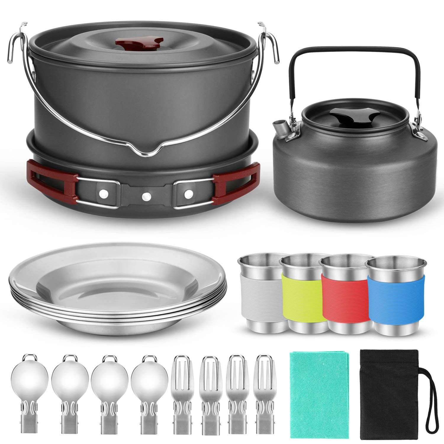 Odoland Camping Cookware Hanging Outdoor