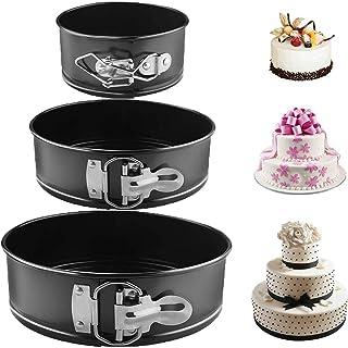 Gxhong Moule à Charnière, Moule à Gâteau Rond Inspiration Moule à gâteau à Moule Rond, Moule à pâtisserie avec revêtement ...