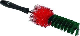 Harde velgborstelgegalvaniseerd metaal en hard rood/groen polyester vezelsvezellengte 40 mmmax. 100 °C.Ø 65/40 x 335 mm