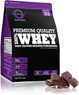 Pure Product Australia Whey Protein Isolate and Concentrate, Chocolate 5 kilograms