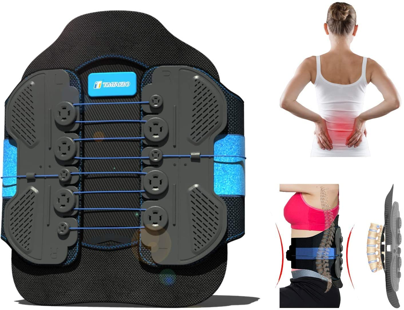 OFFicial Seattle Mall mail order LSO Back Brace with Maximum Arch Decompression PlateAdjustable