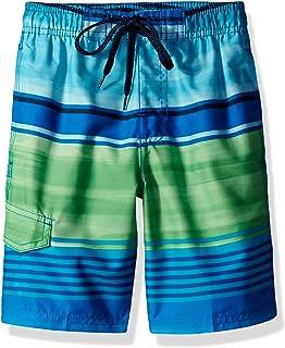 Kanu Surf Boy's Avalon Stripe Quick Dry Beach Board Shorts Swim Trunk Swim Trunks