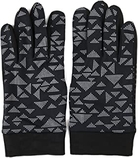 Lightweight Warm Gloves Winter Outdoor Bike Ski Reflective Pattern Fashion Unisex Black S M
