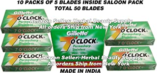 50 - Gillette 7 'o clock double edge Blade Stainess Steel Permasharp