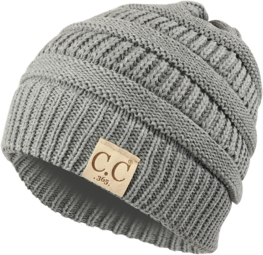 Trendy Apparel Shop Lightweight Ribbed Knit 365 Stretchable Beanie Cap