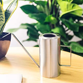IMEEA Watering Can Stainless Steel SUS304 Long Spout Cylindrical Brushed Modern Style, 53Oz/1.5L