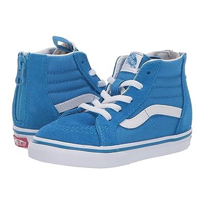 Vans Kids Sk8-Hi Zip (Infant/Toddler) (Indigo Bunting/True White) Boys Shoes