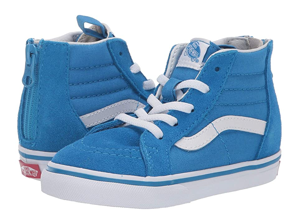 Vans Kids Sk8-Hi Zip (Infant/Toddler) (Indigo Bunting/True White) Boys Shoes