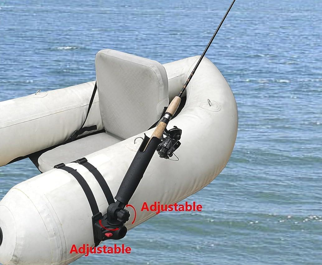 Brocraft Float Tube Rod Holder/Inflatable Pontoon Boat Rocket Launcher Rod Holder