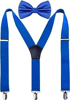 Men's Y-Back Adjustable Suspender and Bowtie Set