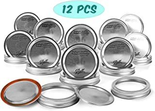 Mason Jar Regular Mouth Lids and Bands/Lot of 12