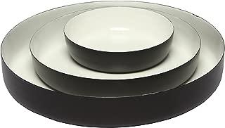 Melange Home Decor Modern Collection, Set of 3 Round Platters - 6