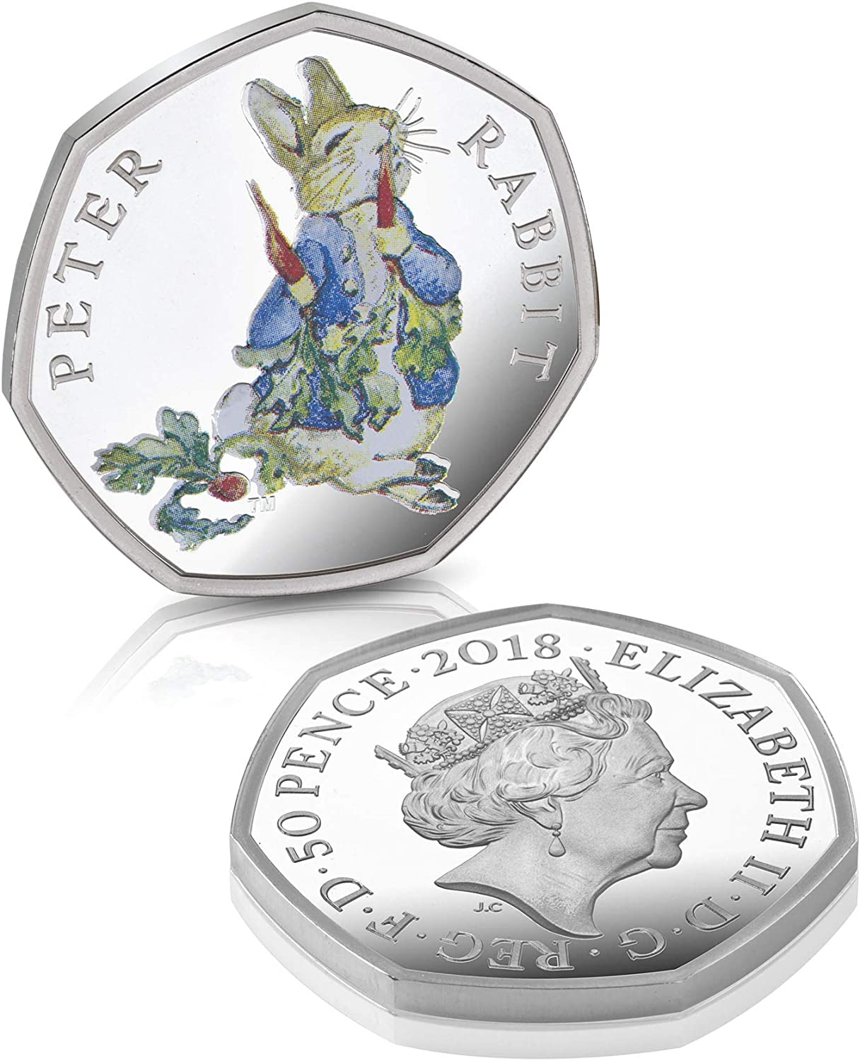 The Bradford Exchange The Peter Rabbit Silver Proof Fifty Pence Coin- New 2018 Royal Mint Fifty Pence Silver Proof Peter Rabbit Coin