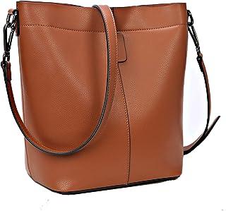On Clearance Sale Iswee Women Leather Handbags Tote Bag Crossbody Shoulder Bag Bucket Bag