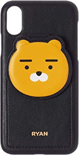 KAKAO FRIENDS Official- PU Leather Phone Case with Card Pocket, Compatible with iPhone (Ryan, iPhone X/XS)