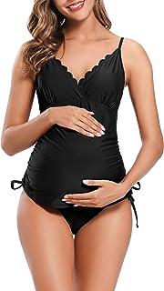 Mujer Bañador Split Maternity Trajes de Baño Tankini Bañadores Trajes de Baño de Talla Grande para Mujer